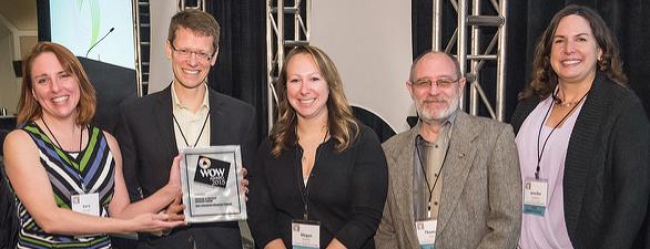 UMUC receiving their 2015 WOW Award